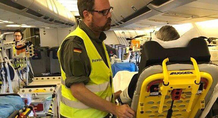 A310 MRTT der Luftwaffe mit Ausrüstung für Krankentransport