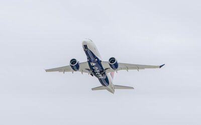 Airbus A220 mit den GTF-Triebwerken von Pratt & Whitney