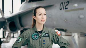 Fanny Chollet, seit Janaur 2018 die erste Kampfjetpilotin der Schweizer Luftwaffe.
