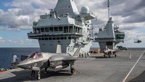 Lockheed Martin F-35B der britischen Streitkräfte auf der HMS
