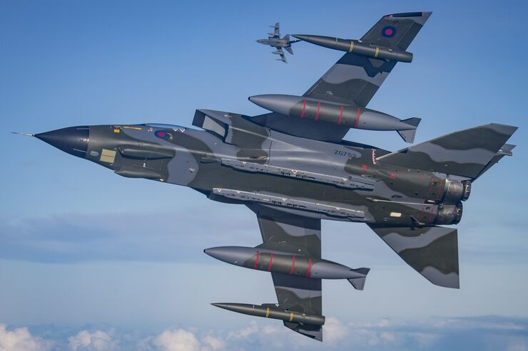 ROYAL AIR FORCE RELEASES IMAGES OF ICONIC TORNADO FAST JET